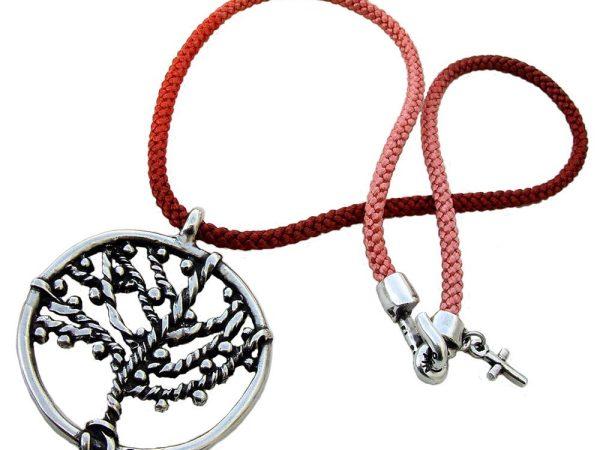 Colgante cordón bicolor Arbol de la Vida