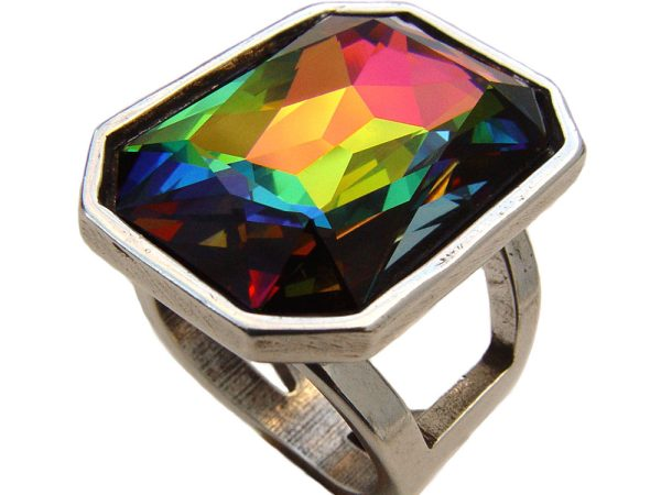 Anillo Vitral multicolor Maranatha