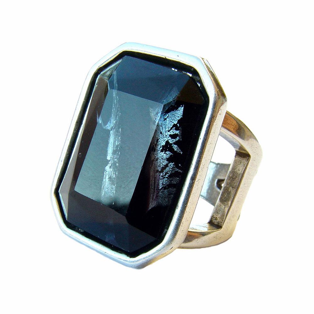 Anillo Maranatha diamante negro