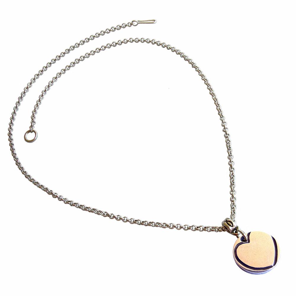 colgante corazón simbolos cadena